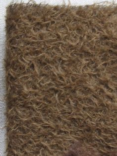 2015/04/22 9 x 22 Antique Brown Mohair Fabric Square  by cheswickcompany
