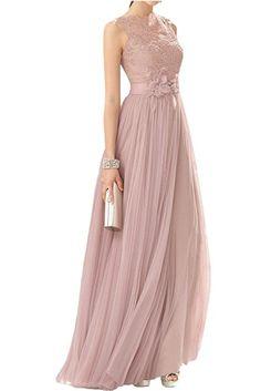 Victory Bridal Edel Rosa Spitze Lang Brautmutterkleider Partykleider Promkleider Abendkleider Festliche-40 Rosa