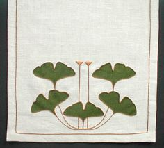 Ginkgo 5-leaf Table Scarf Kit: Arts & Crafts Period Textiles