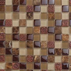 Glass Mosaic Tile Ancestral Copper   Mineral Tiles