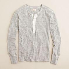 Homespun Knitwear grey long-sleeve henley