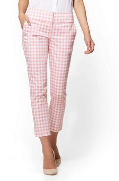 e12f5bc91 7th Avenue Pant Pink Gingham Ankle Modern/ New York & Company (rec). 7th  Avenue Pant. Pink Gingham Ankle. No button or belt loops. Ankle length,  slim fit, ...
