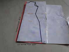 Simple instructions for drafting a pattern for a kurti tunic made-to-fit!