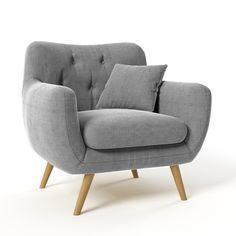 Křeslo Renne Soro, šedé / armchair in grey colour