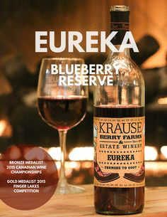 Krause Berry Farms & Estate Winery Blueberry Reserve Wine