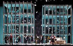 Christopher Theofanidis's Heart of a Soldier at the San Francisco Opera commemorates 9/11. Directed by Francesca Zambello. Sets by Peter J. Davison.