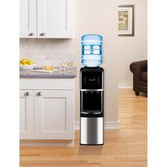 Primo Top-Load Water Dispenser, Stainless Steel/Black - Walmart.com