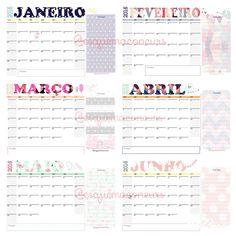 E tem calendários fofinhos para 2016 sim sinhô. Para baixar acesse: instagram.com/esquemaconcurs   #calendarios #calendario #calendars #planejamento #planner #organização #organize #study