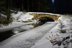 Old stone bridge, Czech Republic.