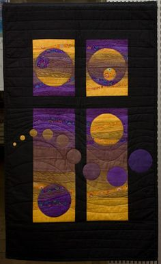 ART QUILTS. �013 Cecilia Koppmann �013 �lbumes web de Picasa. Gives me ideas for using some of that wonderful ombre fabric I keep buying!