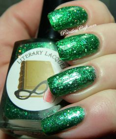 Gift of the Magi Full Size Nail Lacquer : Gift of the Magi Collection Literary Lacquers via Etsy ($10) Wonderful bright green glitter!