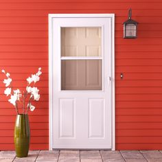 Superb (For The Back Door) EMCO 200 Series 30 In. White Aluminum Traditional Storm  Door With Black Hardware   At The Home Depot