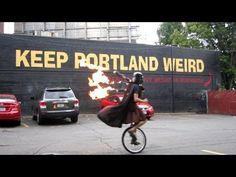 Keep Portland Weird: Darth Vader In Kilt Riding Unicycle Playing Star Wars Medley On Flaming Bagpipes