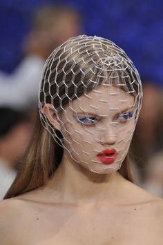 Lindsey Wixon for Christian Dior S/S 2012, by Stephen Jones