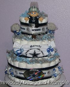 dallas cowboys diaper cake