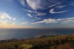 Signal hill looking out to Robben Island by me:) Signal Hill, Habitats, South Africa, Filters, Lens, Clouds, Sky, Island