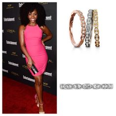 Teyonah Parris stacking up on our Lorelei Floral diamond bands for the EW Pre Emmy Party Diamond Bands, Diamond Cuts, Jewelry Shop, Jewellery, Fire Heart, Natural Hairstyles, Black Hair, Wedding Bands, Mad