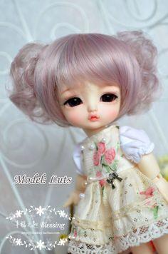 peluca de niña de la muñeca de BJD L-18 (4 colores) para lati amarillo fl pukifee