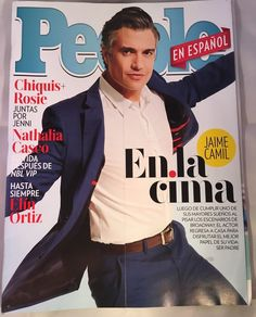 People Español Magazine August Agosto 2016 Jaime Camil Chiquis Rosie Cima | eBay