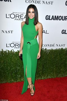 Emerald beauty:Jenna Dewan made sure to keep up with appearances as she attended the Glam...