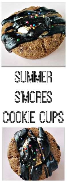 S'mores Cookie Cups - Made with Homemade Graham Cracker Crust! There's a recipe option for gluten-free folks and it's vegan-friendly.