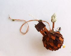 1@veriEarth Planet owls bird house tree Mobile ornament by Intres, $39.00