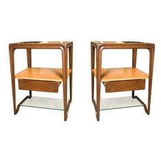 Pair Night Stands Manner of Dunbar | From a unique collection of antique and modern night stands at http://www.1stdibs.com/furniture/tables/night-stands/