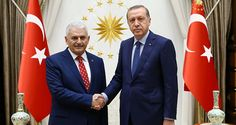Turkish President Tayyip Erdogan (R) meets with incoming Prime Minister Binali Yildirim at the Presidential Palace in Ankara, Turkey, May 22, 2016 Turkish Parliament Gives PM Yildirim's Government Vote of Confidence / Sputnik International