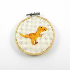 T-rex cross stitch pattern dinosaur pdf pattern dino cross Cross Stitch Beginner, Tiny Cross Stitch, Cross Stitch Quotes, Funny Cross Stitch Patterns, Simple Cross Stitch, Modern Cross Stitch, Cross Stitch Kits, Cross Stitch Designs, Cross Stitching