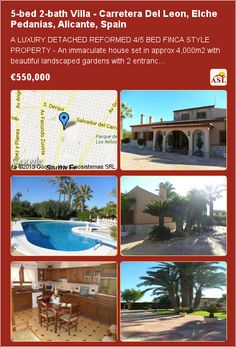 5-bed 2-bath Villa in Carretera Del Leon, Elche Pedanias, Alicante, Spain ▶€550,000