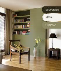 keuken olijfgroen - Google zoeken Wall Colors, House Colors, Corner Reading Nooks, Olive Green Paints, Manly Living Room, Green Colors, Office Decor, My House, Bookcase