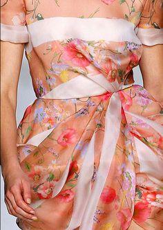 Chic Floral Blumarine Dress, Autumn Winter 2013-2014
