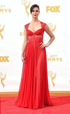 Morena Baccarin from 2015 Emmys: Red Carpet Arrivals | E! Online