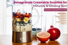 Pomegranate Creamsicle Smoothie for Immunity & Glowing Skin!
