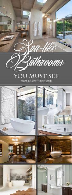 Inspiration and ideas to create your own home oasis – spa-like bathroom #bathroomideas