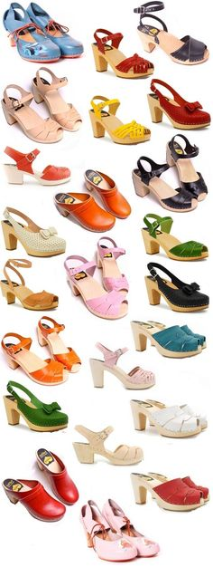 @Amy Lyons Lyons Larson  these make me think of you, I want ALL these clogs :) - Swedish Hasbeen Clogs