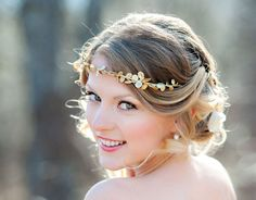 This bridal style was inspired by a fairy tale, but it looks Great Gatsby-ish too!