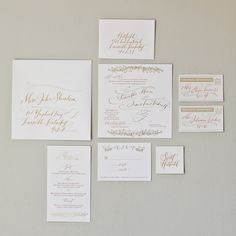 gorgeous calligraphy wedding invitations