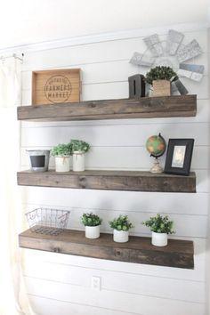 9 best reclaimed wood floating shelves images house decorations rh pinterest com