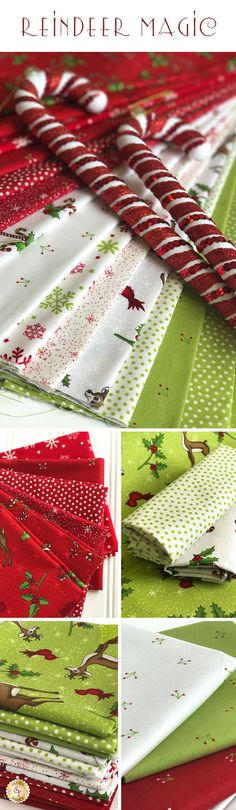Reindeer Magic is a cheerful Christmas fabric collection available at Shabby Fabrics!
