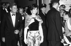 At the National Theatre in September 1962 with her husband.   31 Flawless Photos Of Jackie Kennedy