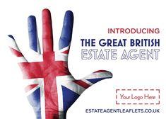 Introducing the great British Estate Agent. Product Code: E2130  Browse through hundreds of Estate Agent design templates! Visit our website for more information! #leaflet #estateagentleaflets #estateagents