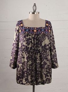 Shop Plus Size Bohemian Clothing Johnny Was Maria Long Tunic    We believe beautiful clothing can be made for every woman, from the the petite to the plus size. That is why Johnny Was has plus size bohemian clothing.    Pls Visit: http://www.johnnywas.com/clothing/plus-sizes.html