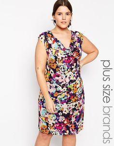 c8d663454a5 Junarose Lava Floral Print Dress at asos.com. Plus size ...