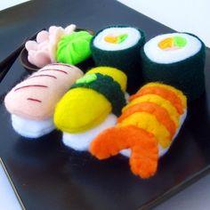 Felt sushi set.  Mmm, nom nom nom.