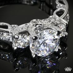 Verragio Engagement Ring - This beautiful 3 Stone Engagement Ring is from the Verragio Paradiso Collection.