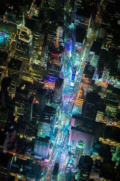 Night over New York is a selection of aerial photographs by Vincent Laforet, all shot above the city on one cold evening
