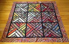 Fractured Paint Box, Quiltworx.com, Made by CI Julie Faulkner.