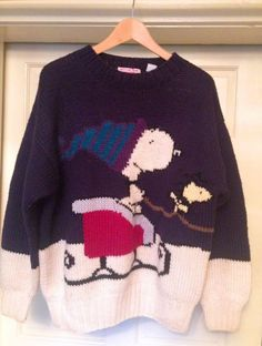 d3969e58321 Vintage Bill Ditfort Snoopy Christmas Sweater