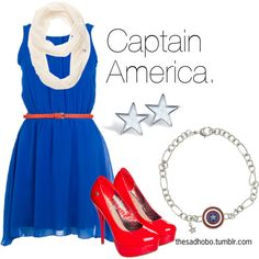 Captain America inspired outfit Logan, Nick, and Noah would say when they were older, ''How mean, Captain America is a boy!'' Those boys all with their cute super heros and tv shows. You got to love them while you can. From:Maddie